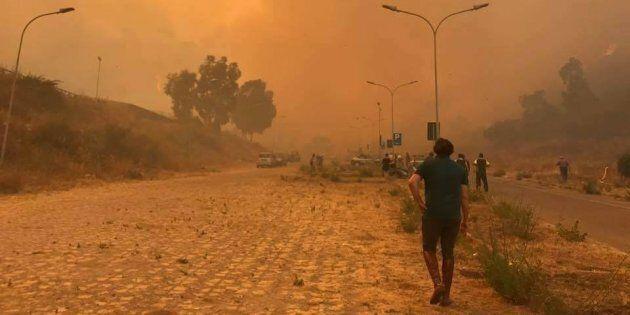 Roghi in Sicilia, evacuate le case a Messina ed Enna. Testimoni: