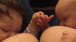 Posta questa foto mentre allatta, Facebook le disattiva