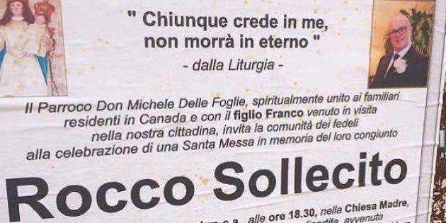 Puglia, il manifesto del parroco per il boss: