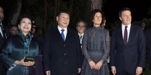 Matteo Renzi e Agnese a cena con Xi Jinping: il presidente cinese vuole lanciare il cibo italiano in