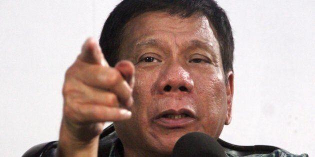 L'annuncio del contestato premier filippino Duterte: