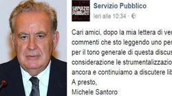 Santoro attaccato su Fb per aver criticato il fronte del