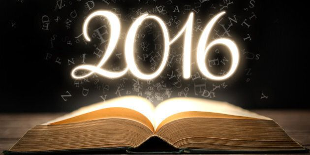 Glowing new year 2016 with magic