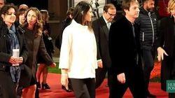 La Raggi in bianco sul red carpet della Festa del Cinema di
