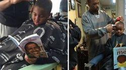 Un barbiere fa lo sconto ai bambini che leggono ad alta voce durante
