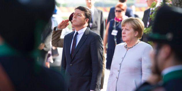 Matteo Renzi incontra Angela Merkel e annuncia Vasco Errani come commissario per la