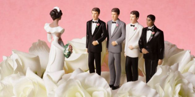 Bride figure on wedding cake with a choice of four