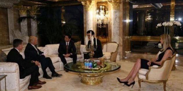 Questa foto di Ivanka al tavolo con Abe dimostra che Donald Trump è pronto a rompere ogni