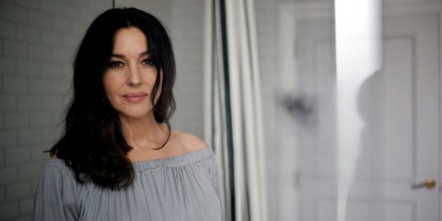 Italian actress Monica Bellucci poses for pictures during the San Sebastian Film Festival in San Sebastian,...