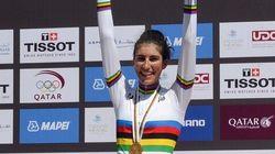 Elisa, la campionessa di ciclismo juniores con la media dell'8 a