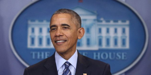 U.S. President Barack Obama holds his annual year-end news conference at the White House in Washington,...