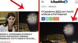 Grillo esalta su Facebook il capodanno della Raggi, ma la foto è della festa di