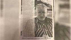 Una pagina del Corriere per gli auguri al padre: