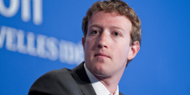 Deauville, France - MAY 26, 2011 : Facebook CEO Mark Zuckerberg participates to a conference about web...