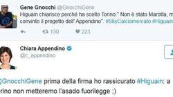 La brillante risposta di Appendino a Gene Gnocchi su Higuain alla