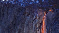 Perché la cascata di Yosemite si colora di rosso solo due settimane