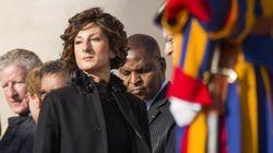 Il look scelto da Agnese Landini per l'incontro con il papa è da vera First