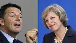 Brexit, il benvenuto di Renzi a Theresa May domani a Roma: Londra si sbrighi a uscire