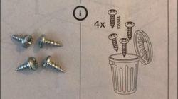 Questa indicazione sulle istruzioni Ikea ha lasciato perplesso un