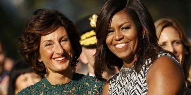 Agnese Renzi e Michelle Obama insieme alla Casa