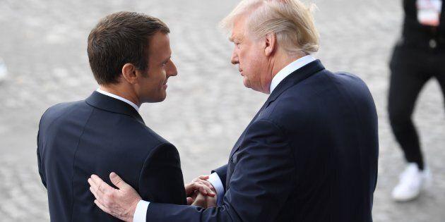 Donald Trump su Emmanuel Macron: