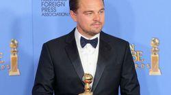 Leonardo DiCaprio in veste di presentatore ai Golden Globe