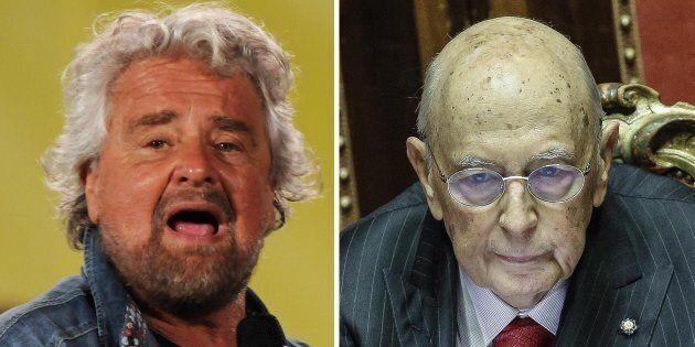 Beppe Grillo contro Giorgio Napolitano:
