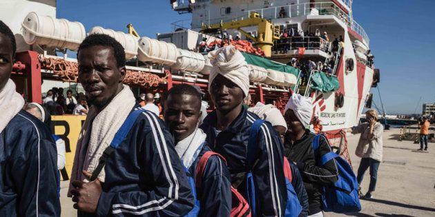 19/06/2017 Reggio Calabria, 1044 persone, salvate nei giorni scorsi nel Canale di Sicilia, dalla nave...