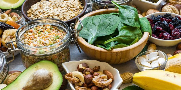 Products rich of potassium and magnesium. Bananas, spinach, nuts, grains, dried fruits, beans and avocado....