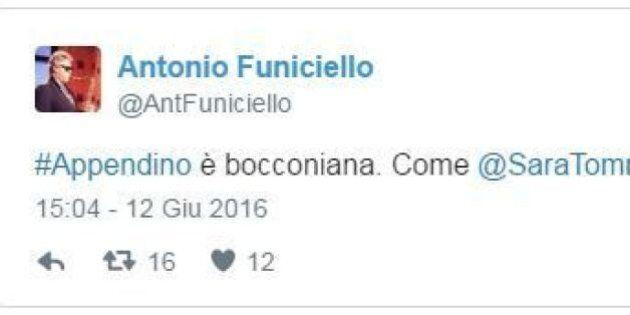 Tweet contro Chiara Appendino, paragonata a Sara Tommasi. Bufera su Antonio Funiciello, portavoce di...
