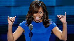 Tutto l'orgoglio di Michelle per suo marito in un