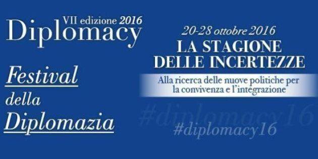 Nell'era delle incertezze al via Diplomacy 2016, il Festival della