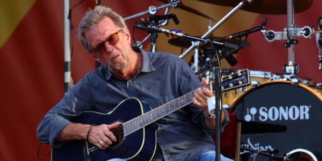 FILE - In this April 27, 2014 file photo, Eric Clapton performs at the 2014 New Orleans Jazz & Heritage...