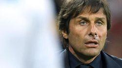 Conte si ferisce per esultare al gol di Giaccherini