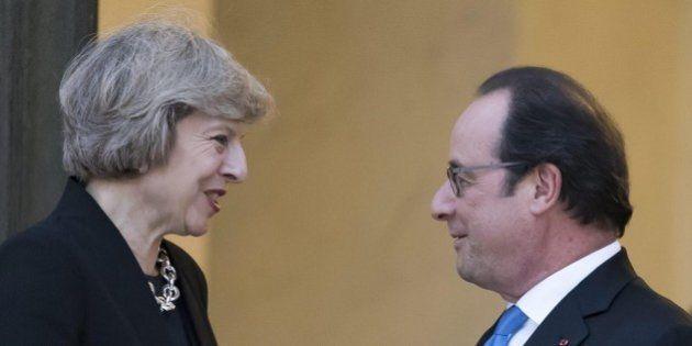 Francois Hollande a Theresa May: