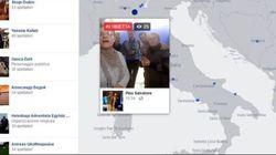 Ho passato un'ora a guardare l'Italia su Facebook live maps (e c'è di
