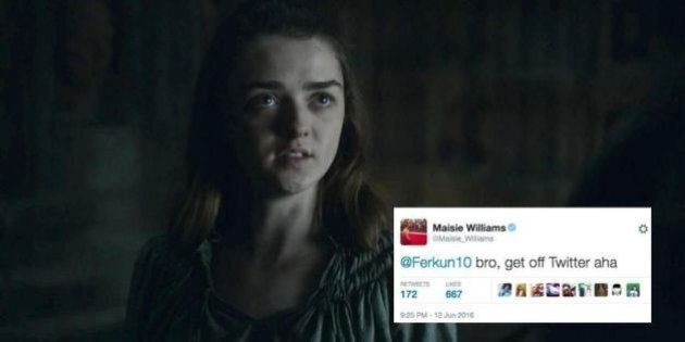 Maisie Williams di Game of Thrones spoilera il destino di Aria Stark su