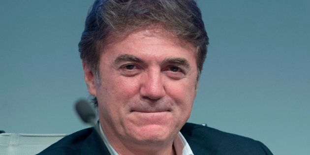Telecom Italia CEO's Flavio Cattaneo attends the General meeting of shareholders of Telecom Italia with...