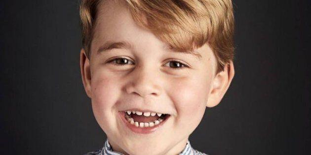 Il piccolo George nella foto di Chris