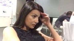 Ilaria D'amico soffre durante la partita. E