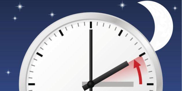 eps 10 vector illustration of a clock return to standard
