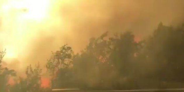 Brucia ancora il centro-sud. A Termoli evacuato stabilimento Fiat, roghi in Molise e autostrada chiusa...