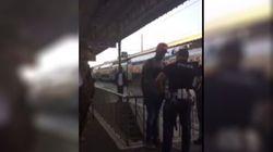 Poliziotto caccia il migrante dalla stazione di Ventimiglia: