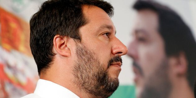 Northern League's leader Matteo Salvini attends a news conference in Milan, Italy, June 26, 2017. REUTERS/Alessandro