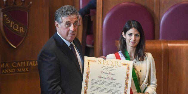 Virginia Raggi conferisce a Nino Di Matteo la cittadinanza onoraria di