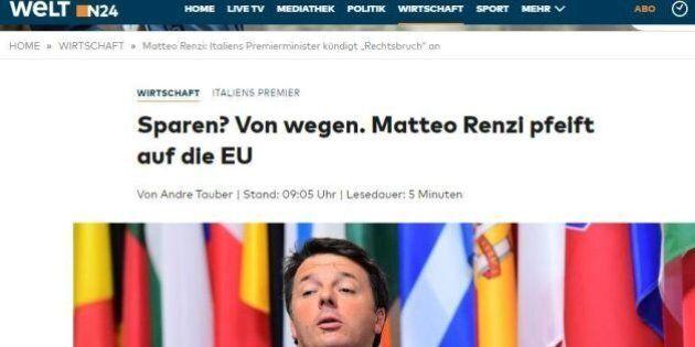 Die Welt contro Renzi. Per il quotidiano conservatore tedesco