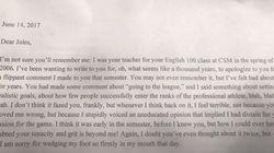 La lettera di scuse dell'insegnante all'alunno. 11 anni prima aveva definito il suo scopo nella vita
