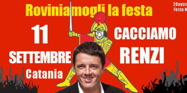 Festa del Pd, Catania in tilt per l'arrivo di Renzi: domenica contestazioni in piazza e stop al calcio...