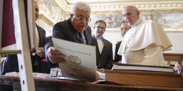 Papa Francesco riceve Abu Mazen in Vaticano per l'apertura della nuova ambasciata