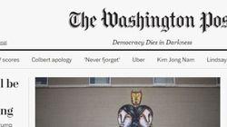 C'è una nuova storica scritta sotto la testata del Washington Post. E Trump non la